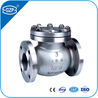 API ANSI JIS GOST Standard Cast Steel Stainless Steel Carbon Steel RF Flanged End Swing Check Valve