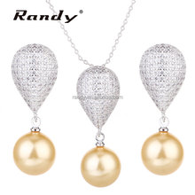 Fashion Jewels CZ Stone Bridal Gifts Pearl Jewelry Sets For Bridesmaid