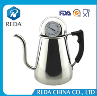 Anti scald handle drip coffee / tea electric gooseneck kettle with thermometer