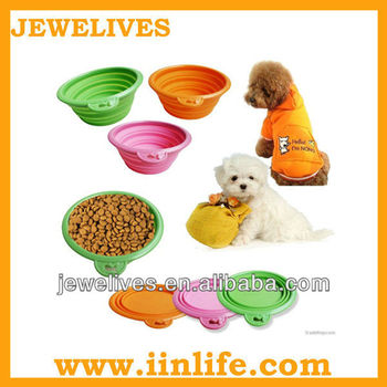 Portable Silicone collapsible bowl for pet