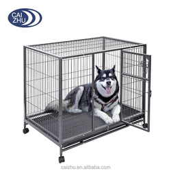 "42"" Heavy Duty Metal Wire Dog Pet Crate Cage Kennel Black w/Tray"