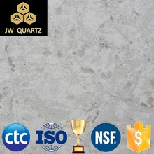 JW-5209 Koala Grey-Cute Artificial Quartz Stone Slab for wall cladding and bathroom decoration