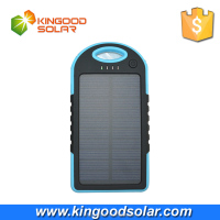 Fast charging rohs power bank charger 5000mah waterproof solar charger for mobile and ipad