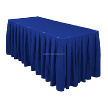 Custom printed PEVA materials ruffled table skirts plastic table skirting