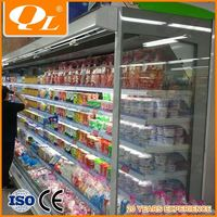 Used glass door display freezers commercial fresh vegetable coolers