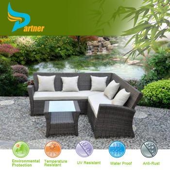 6 seater pe rattan outdoor garden sofa set lounge garten. Black Bedroom Furniture Sets. Home Design Ideas