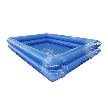 Hot Selling NEVERLAND TOYS Crazy Blue Double-Deck Giant Inflatable Adult Swimming Pools For Sale