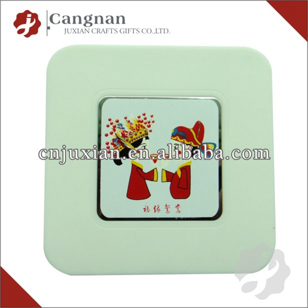 Promotion plastic photo insert coasters