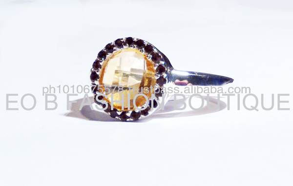 GWR 55 Sterling Silver 925 Rectagle Shape Coloured Gemstone Ring
