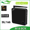 M18 Quad-core 2G 16G Amlogic S905 android tv box External WiFi antenna