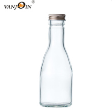200ml Long Neck Raw Juice Glass Bottles With Screw Lids For Milk Bubble Tea