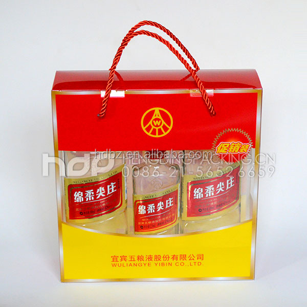 New style plastic bags wine bottle packaging boxes