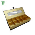 Factory elegant cardboard paper chocolate packaging box with pvc window
