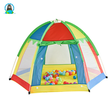 Seven - color rainbow breathable indoor and outdoor hexagonal children 's toys tent