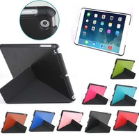 leather compendium for ipad air case with folding function
