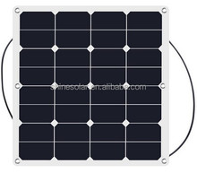 ETFE No Anti-dumping Duty SunPower Semi Flexible Solar Panel 50W Fiberglass Photovoltaic Solar Panel