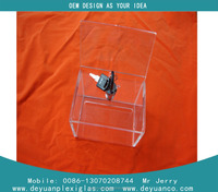 Clear square cube acrylic display boxes with handle lid wholesale