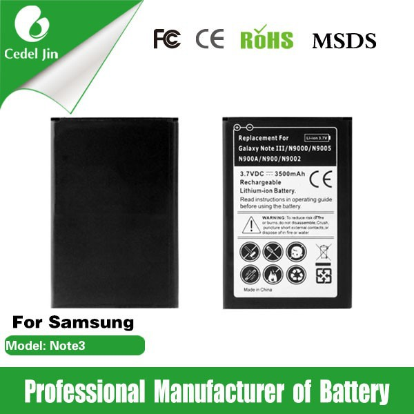 gb/t 18287-2000 battery for GALAXY NOTE3