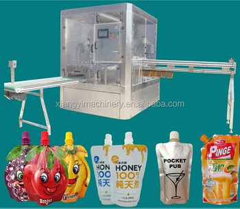 2019  new drinking fruit jelly pouch filling capping and packaging machine