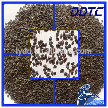 virgin, brown aluminum oxide abrasive grain in sand blast finishing and surface preparation