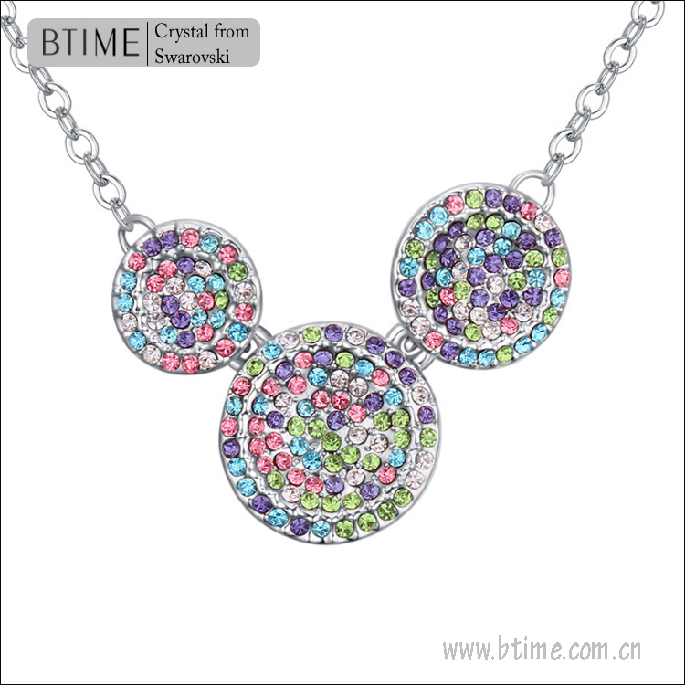Btime Pendant Necklace/Austria Rhinestone necklace