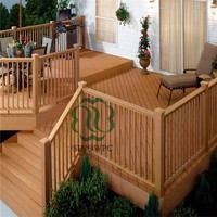 recyclable building material WPC decking good fit for house garden