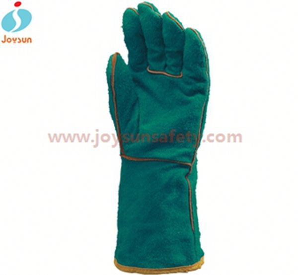 Hot!Reinforced blossom gloves welding leather working gloves