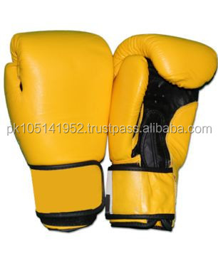 pu outside Bonded foam and eva inside boxing gloves/YELLOW AND BLACK COLOR BOXING GLOVES/Top quality custom Boxing gloves made g