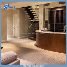 Villa and residential L shape wood staircase stairs indoor stair railings