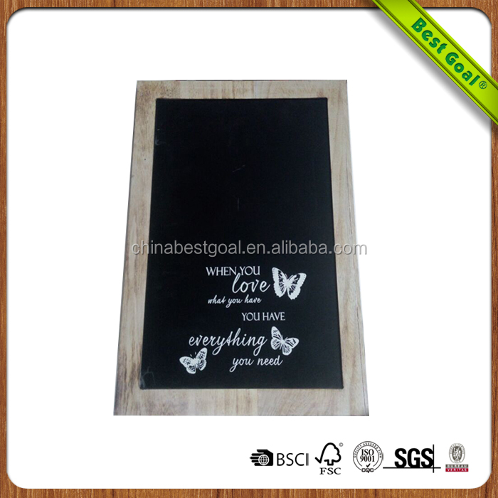 Chalk writing wood wall hanging blackboard