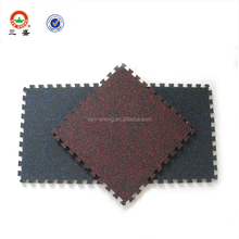 cheap interlocking rubber floor / interlock gym mat / interlock rubber mat for sale