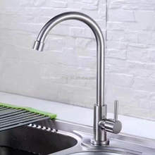 Stainless steel 304 cold faucet 28mm round-spout Kitchen sink Tap