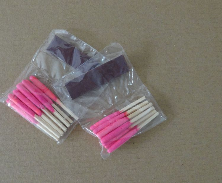 Transparents plastic boxes 20pcs/tube waterproof/windproof match