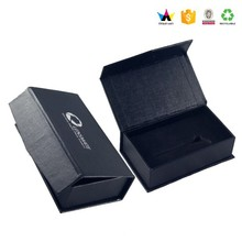 Trade Assurance Black Cardboard Coffin Shape Gift Box