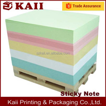2016 new design rainbow paper memo cube with wooden pallet,sticky note with high quality