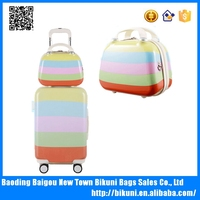 Suitable for women trolley bags ABS+PC luggage trolley case bag universal wheel trolley suitcase with handbag