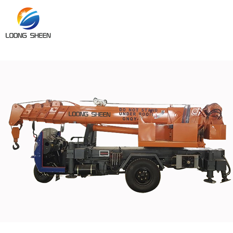 Small Construction Machine Farm Use Lifting Crane 2 Ton Truck-mounted Crane