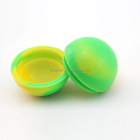FDA approved ball shape moisturizers and creams container, silicone cosmetic jar, silicone medicine jar 38mm 6ml jar