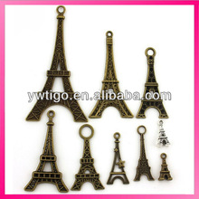 Wholesale antique brass eiffel tower metal charms