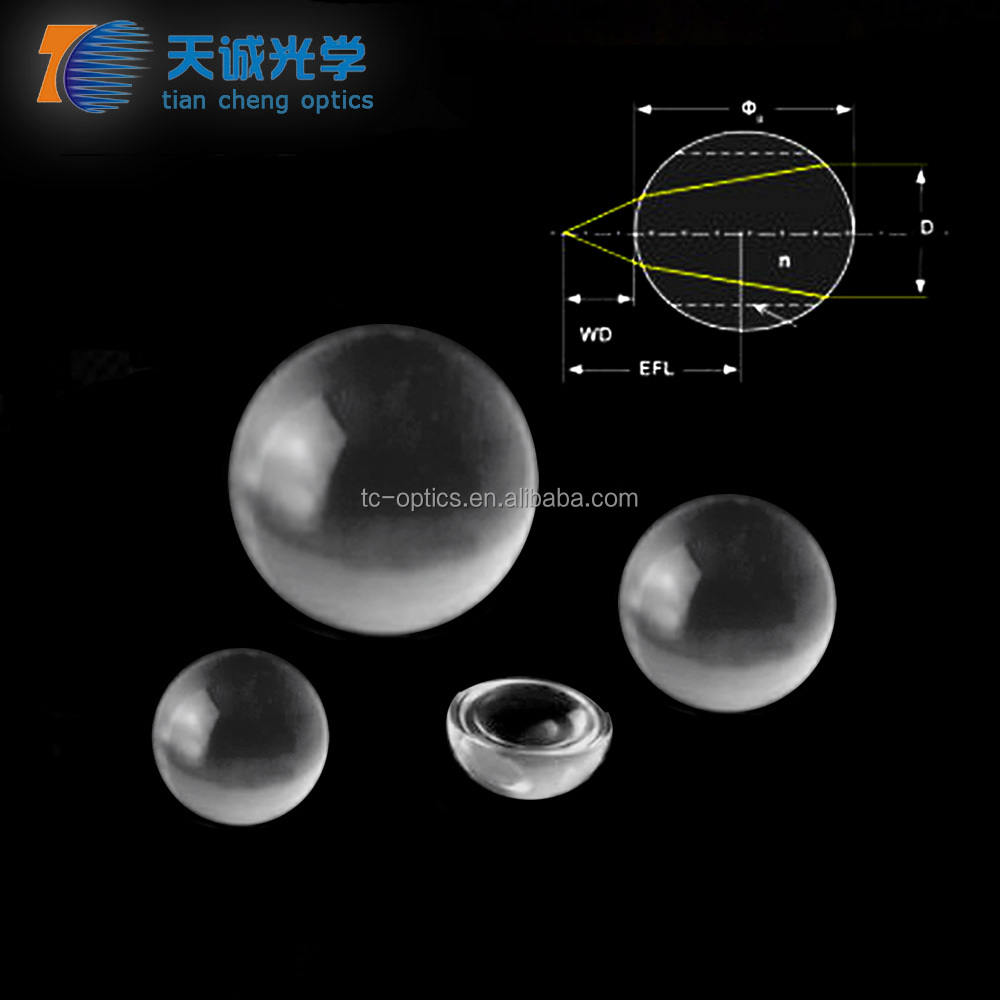 Optical Glass Ball Lens,Half Ball Lenses,Bk7,Fused Silica,Sapphire,Caf2,Znse