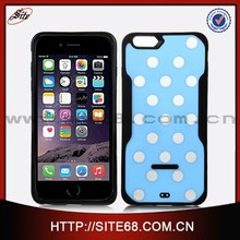 Wholesale Factory price phone case, TPU and acrylic polka dot custom cover case for iphone 6plus