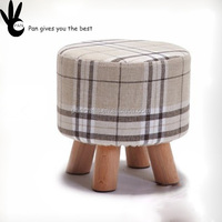 Pan fabric colorful step stool modern chair children wooden stool