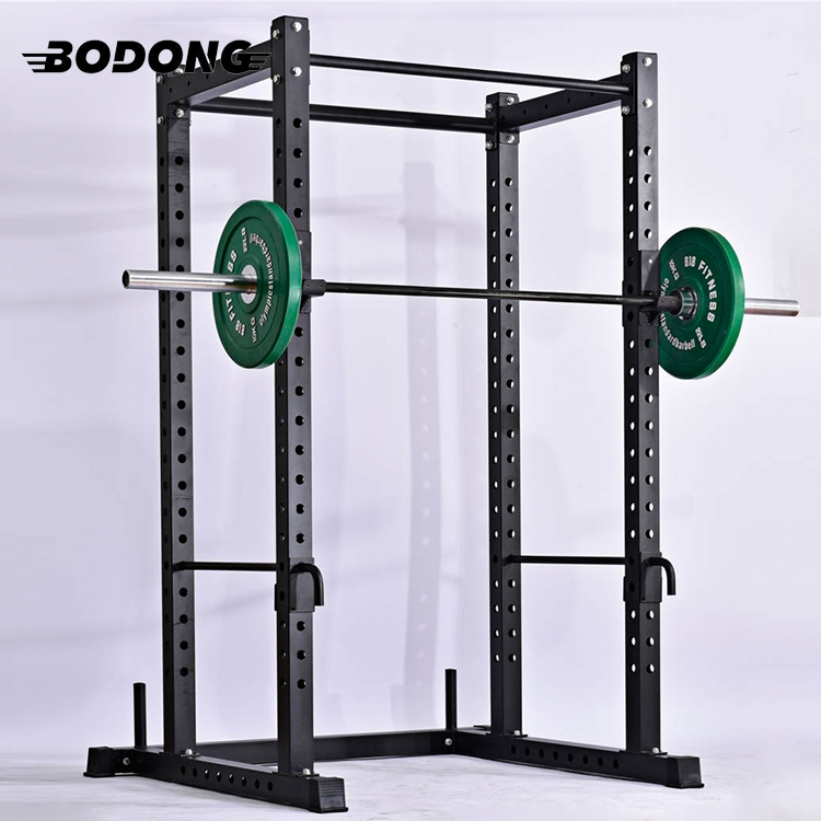 Commercial heavy duty indoor fitness equipment power squat rack for gym use