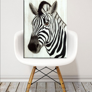 zebra oil painting on canvas painting wall art for living room home decorative giclee printing art work wholesale
