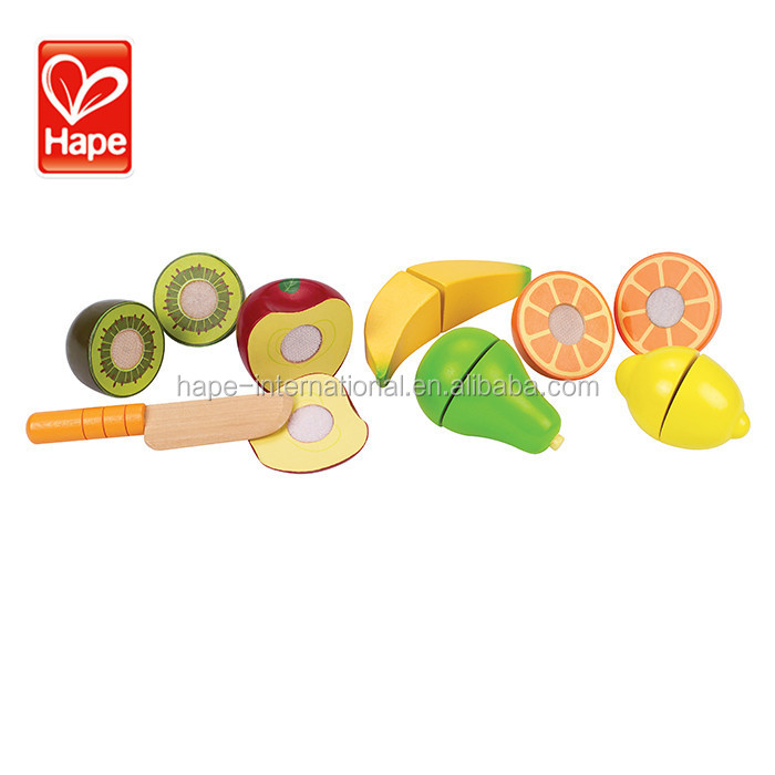 Hot sale high quality fruit toy educational wooden kitchen toy children