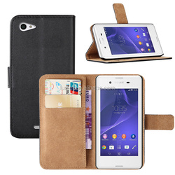 Wallet Leather Case Cover For Sony Xperia E3