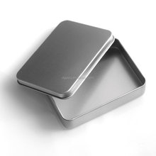 rectangular metal printing cards tin box