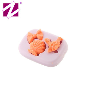 Three Cavities Nonbreakable Silicone Kitchenware Bird Couch Bowknot Shape Cake Fondant Mold for Decorating