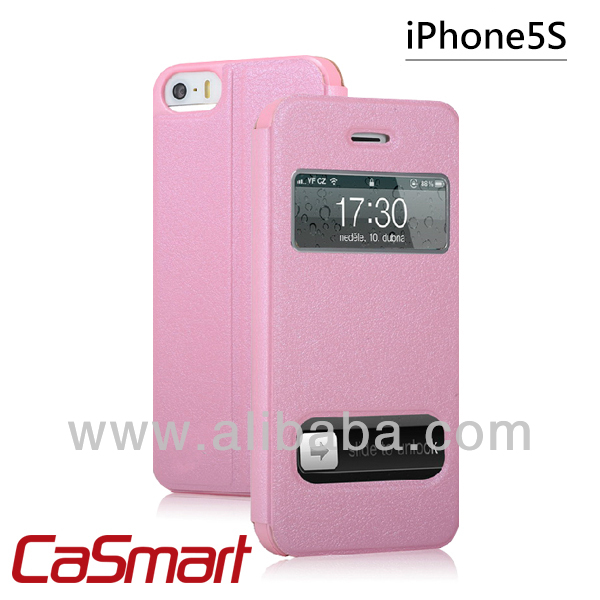 View Flip Cover for iPhone 5/5S (pink)