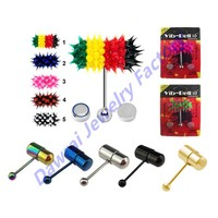 DAR-HS Wholesale Checkout Vibrating Tongue Ring Piercing Barbell Micro Vibrator Body Jewelry